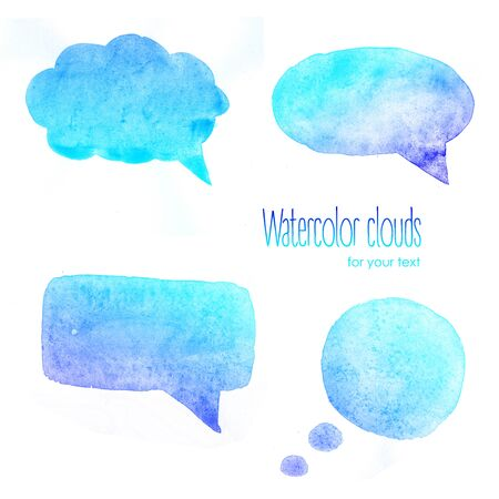 blue  backgrounds: Watercolor blue clouds for text  Watercolor backgrounds for text