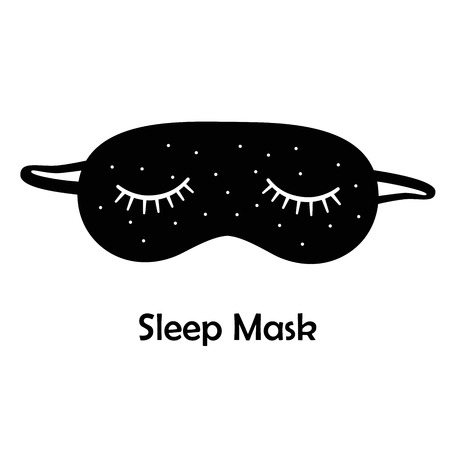 black mask: Black sleep mask  Sleeping mask on a white background