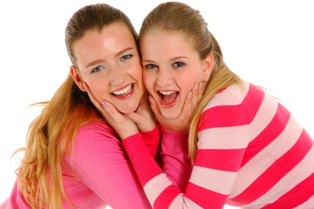 girl friends together smiling photo