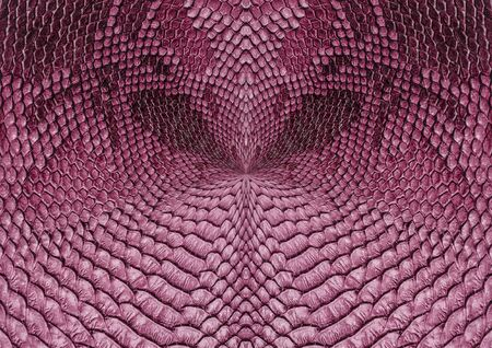 Snake skin background. Pink radial background.