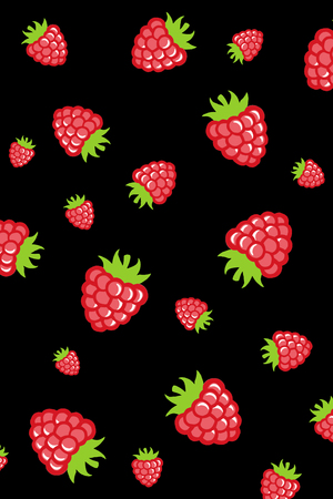 Berries color  pattern on isolated background Stock Photo