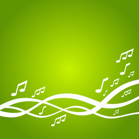 music background: Abstract green music background