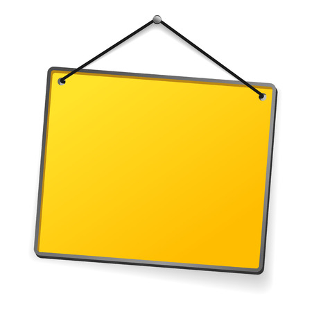 smooth surface: Empty yellow plate