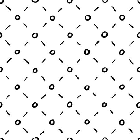 rhombic: Seamless rhombic black and white hand drawn background