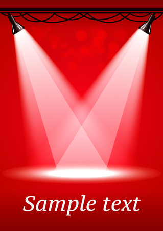 stage projector: Red spotlights background with two projectors