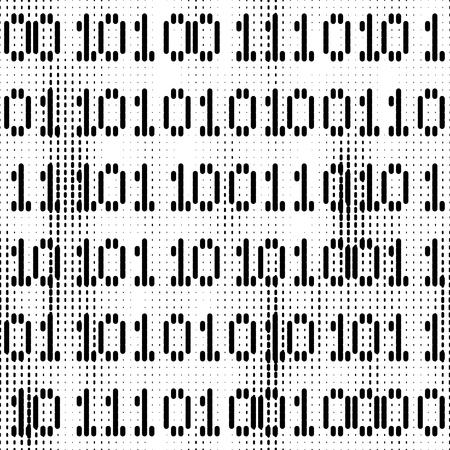bit background: Seamless digital background with black bit figures