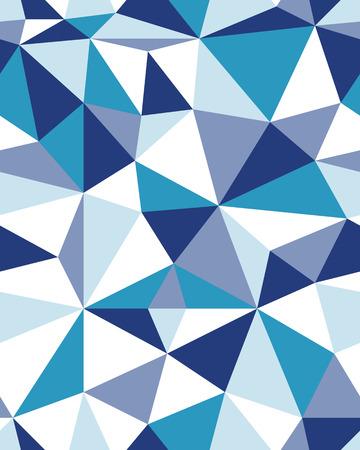 Blue Seamless polygonal pattern background, creative design templates