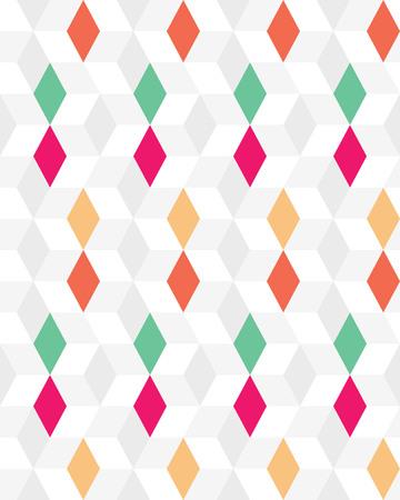 Colored rhombus seamless pattern, creative design templates. Illustration