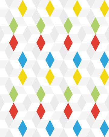 Colored rhombus seamless pattern, creative design templates Illustration