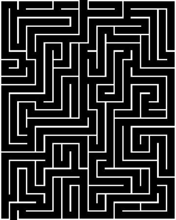 Rectangle maze isolated on white background