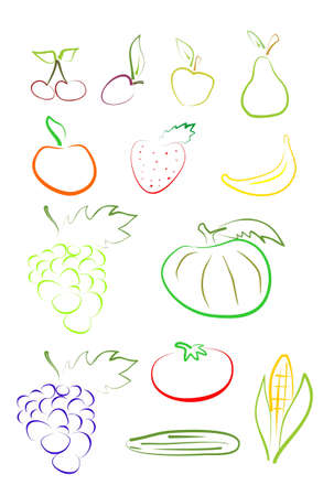 fruit set Stock Vector - 17221961