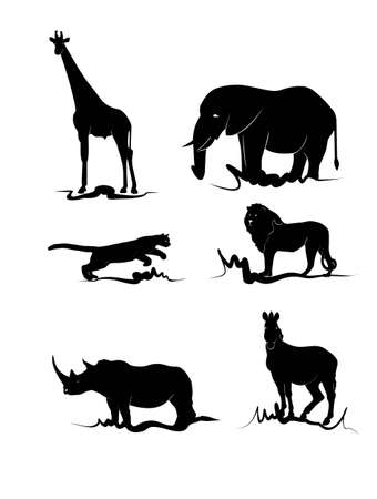 animals of africa Vector