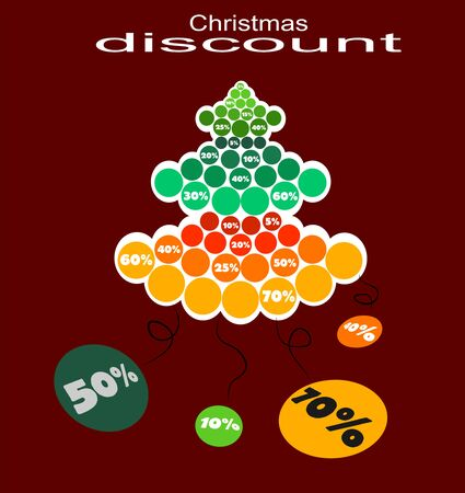 expressed: tree full of discounts expressed as a percentage