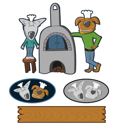 dog bakery biscuit dogs are like cooks variety of uses Vector