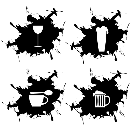 splotch and embedded Limonada coffee beer and wine Vector