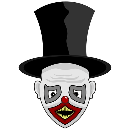 tall hat: scary face with a tall hat for you