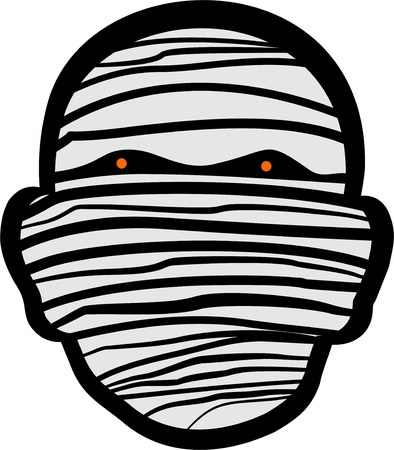 face covered: wild scary mummy head for your different usage Illustration