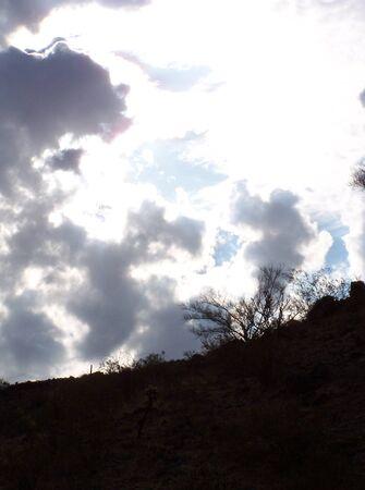 Arizona desert silouet in the sky