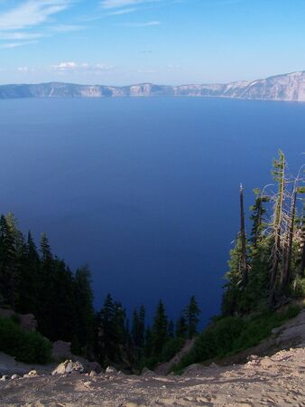 crater lake: Crater lake Stock Photo