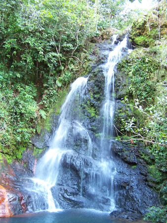 Tropical water fall Stock Photo