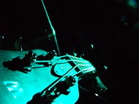 bass in blue light