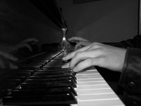 Black and White piano Stock Photo