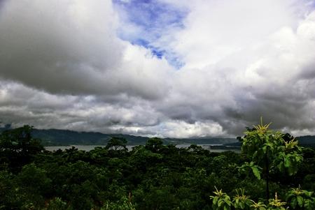 Clouds over jungle
