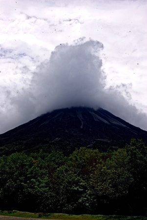 Clouds on Volcano photo