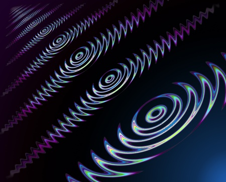 row of waves