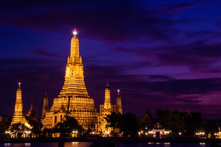 The grand Pagoda of the wat Arun in Thailand