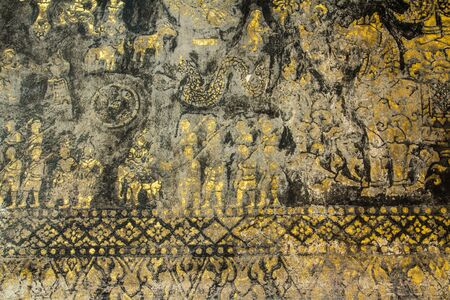 Generality in Laos,any kind of art decorated in buddhist church,temple pavilion,temple hall,monk Stock Photo - 17219038