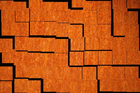 oxidize: mosaic in the design of a rusty sheet