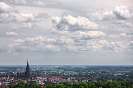 the city with the highest spire in the world (Ulmer Münster) Standard-Bild
