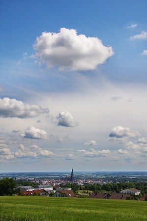 the city with the highest spire in the world (Ulmer M�nster) photo