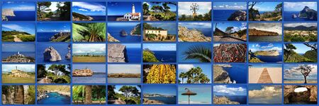 meer: Collage Mallorca Stock Photo