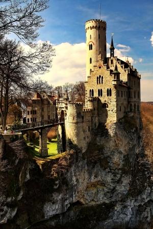 Castle Lichtenstein Stock Photo