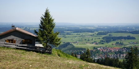 wintersport: Nesselwang, im Winter Wintersport und im Sommer wandern  Stock Photo