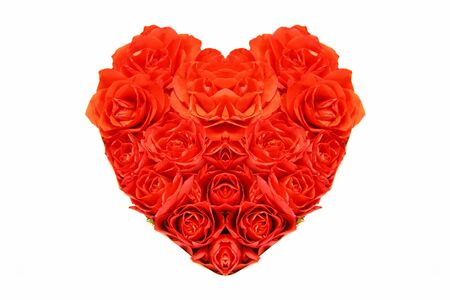 A heart of red roses photo