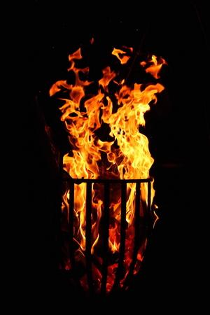 fire basket Stock Photo