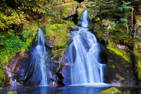 The Triberg waterfalls are the highest waterfalls in Germany