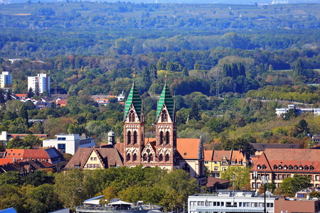 Herz Jesu Kirche Freiburg is a city in Germany with many historical attractions