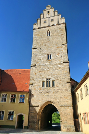 Rothenburg Gate in Dinkelsb?hl is a city in Bavaria, Germany, with many historical attractions