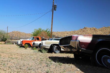 Route 66 Arizona  USA - 04 29 2013: Oldtimer on Route 66 in Arizona