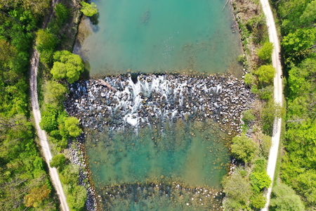The Iller from above. drones recording
