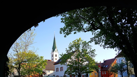 The city of Bad Saulgau Stock fotó