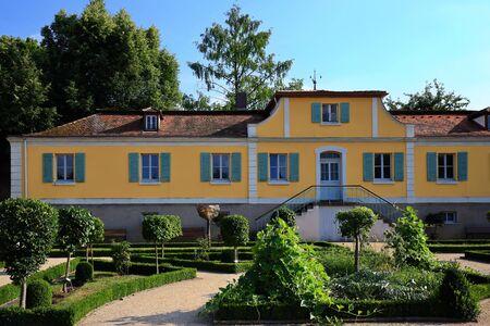 Ansbach is a city in Bavaria, Hofgarten Standard-Bild