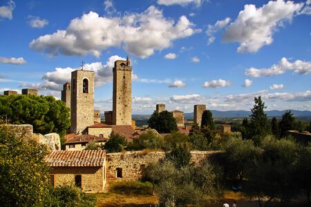 Volterra is a picturesque town in Tuscany 스톡 콘텐츠 - 131957271