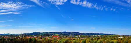 Aerial view of Kempten one of the oldest cities in Germany Standard-Bild