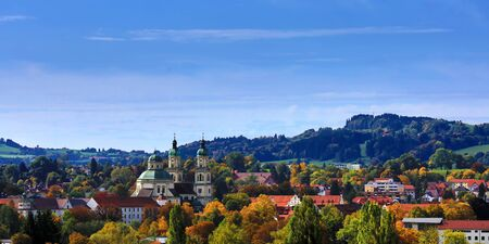 Luftbild von Kempten eine der ältesten Städte Deutschlands
