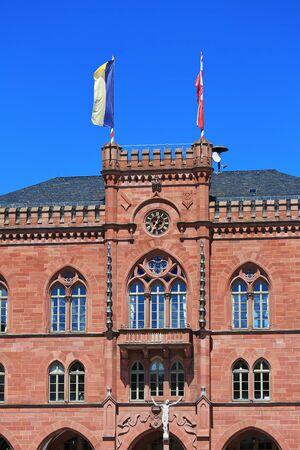 old historic town hall of Tauberbischofsheim